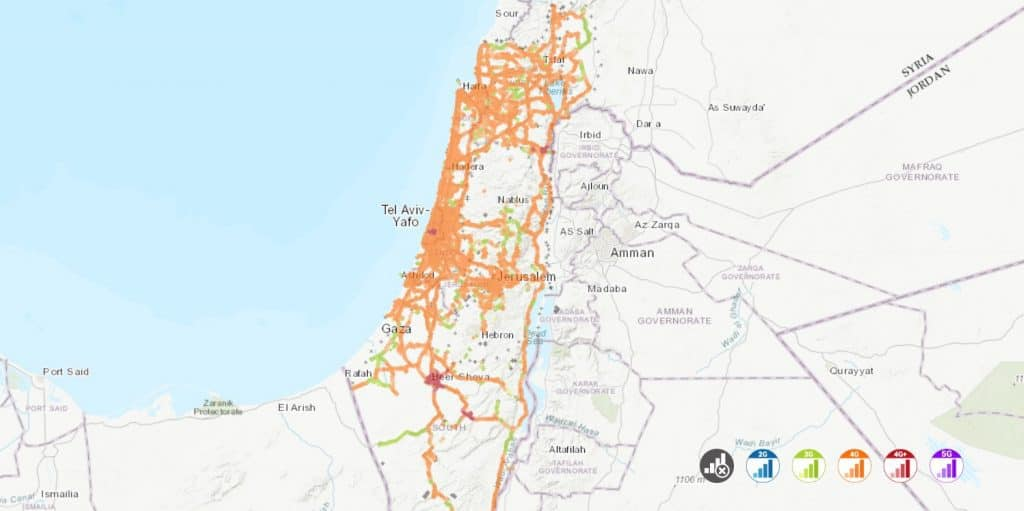 pelephone and rami levy mobile - coverage map