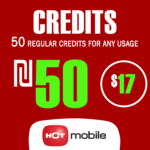 Recharge Hot Mobile plan - 50 Regular Credits for any usage for 180 Days
