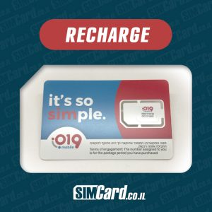 Recharge 019 Mobile SIM Card