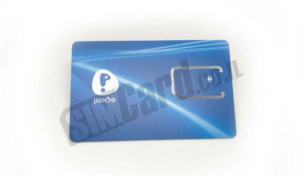 Pelephone Prepaid SIM card - triple cut