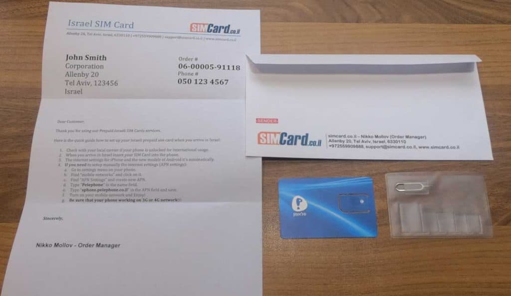 Pelephone Prepaid SIM-Karte Pack