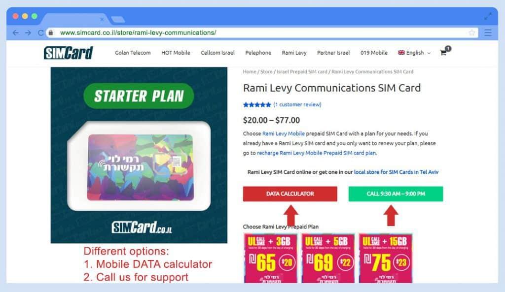 Rami Levy Comunicación Tarjeta SIM Orden Paso 1